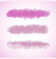 pink grunge brush stroke collection vector image