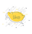 quick tips badge with like speech bubble trendy vector image vector image