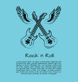 rock and roll music poster vector image vector image