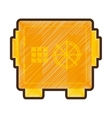 safe money box isolated icon vector image vector image