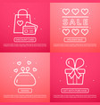 sale of valentine day vector image vector image