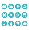 set collection of weather and meteorology icons vector image vector image