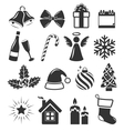 Set of Christmas Holidays Icons Pictograms Flat vector image