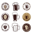 Set of craft beer labels Set of vintage beer mugs vector image vector image