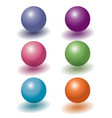 set of six color 3d plastic levitating balls with vector image vector image