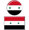 Syrian round and square icon flag vector image vector image