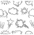 text balloon hand draw doodle pattern style vector image