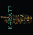the dos and don ts of karate etiquette text vector image vector image