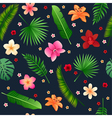 Tropical Flowers Seamless Background vector image vector image