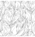 tulips Seamless flowers pattern vector image vector image
