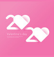 valentines day 2020 heart paper cut concept vector image vector image