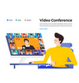 video conference 05 vector image vector image