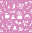 violet endless pattern with christmas icons vector image vector image