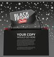 website black friday banner for web site vector image vector image