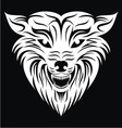 White Wolf Face vector image