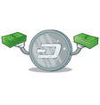 with money dash coin character cartoon vector image