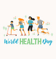 world health day healthy lifestyle sport family vector image