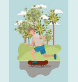 young man in skateboard on the park vector image vector image