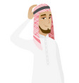 young muslim businessman scratching his head vector image vector image