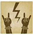 rock and roll symbol old background concept of vector image