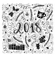2018 - handdrawn handwritten vector image