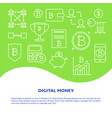 alternative money poster with place for text vector image vector image