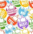 Approval paper stickers seamless background vector image vector image