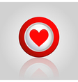 background with a heart button vector image