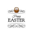 basket full easter eggs decoration element vector image vector image