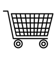 black and white shopping cart graphic vector image
