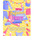 bright pajama partys invitation flyer vector image vector image