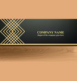 business card with luxurious ornament vector image