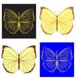 butterfly lemon vector image vector image