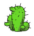 cactus cartoon hand drawn image vector image