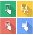 calculator - icon vector image vector image