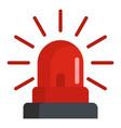 caution siren icon flat style vector image