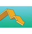 Chart arrow course vector image