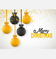 christmas greeting card design of xmas balls with vector image vector image