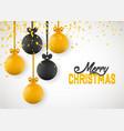 christmas greeting card design xmas balls vector image vector image