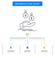 coins hand currency payment money business flow vector image