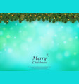 colorful bokeh of christmas tree with golden vector image vector image