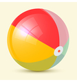 Colorful Retro Beach Ball vector image