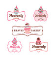 cupcakes bakery logo collectionweb vector image vector image