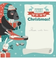 Cute animals giving presents vector image vector image