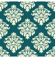 Damask seamless pattern with green and beige vector image vector image