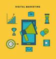 digital marketing cartoon vector image vector image