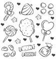 doodle of candy various art vector image vector image