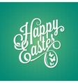 easter vintage sign background vector image