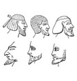 egyptian beards have eight styles beards vector image vector image