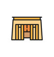 egyptian tomb pharaoh sarcophagus color line icon vector image vector image